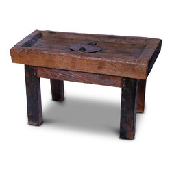 Indonesian Money Table - 19-5 h x 34 w x 18 d