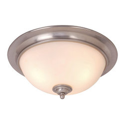 Vaxcel Lighting - Vaxcel Lighting CC35916 Mont Blanc 3 Light Flush Mount Ceiling Fixture - Features: