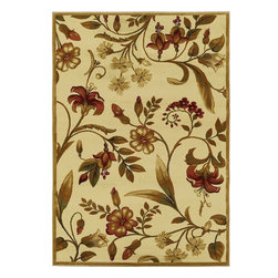 """Kas - Country & Floral Lifestyles 3'11""""x5'3"""" Rectangle Ivory Area Rug - The Lifestyles area rug Collection offers an affordable assortment of Country & Floral stylings. Lifestyles features a blend of natural Ivory color. Machine Made of 100% Heat-set Polypropelene the Lifestyles Collection is an intriguing compliment to any decor."""