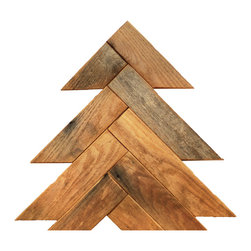 Herringbone Barn Wood Christmas Tree, Small - This barn wood Christmas trees make for beautiful, rustic holiday decor. These trees look great around the traditional Christmas tree or as stand alone items.