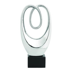Benzara - Mastercraft Abstract Swirling Sculpture - Mastercraft Abstract Swirling sculpture. A haunting piece of artwork, rich and graceful in it's beauty.