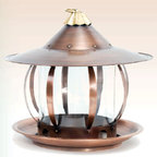 St. Simons Bird Feeder - Welcome birds to your garden or yard with their very own castle, made of stainless steel with an antique copper finish.