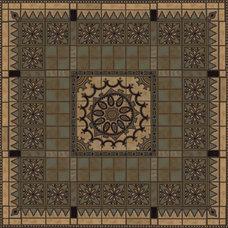 Mediterranean Floor Tiles by Metolius Ridge Tile, Inc