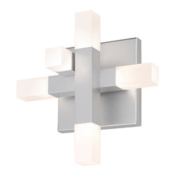 Sonneman - Sonneman 2110.16 Connetix Bright Satin Aluminum LED Wall Sconce - Sonneman 2110.16 Connetix Bright Satin Aluminum LED Wall Sconce