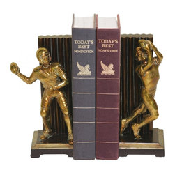 Joshua Marshal - Pair Vintage Touchdown Bookends - Pair Vintage Touchdown Bookends