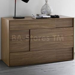 Square Walnut Dresser -