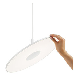 Pablo Designs - Circa White Pendant with ABS Shade - Features: