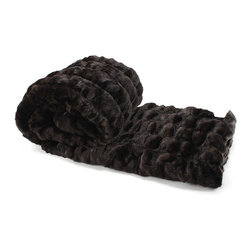 Love Thy Prey Faux Fur Throw - Bear Brown - Nearly sable in its java depths, this Brown faux fur throw, a popular color option from the sought-after Love Thy Prey Collection's Bear fur line, is a dark, lustrous addition to your lordly traditional bedroom or comfortable transitional living space.  Roll up in the folds and ripples of an imported faux fur realistically rendered as an imitation of that ancient sign of hunting prowess; be protected against cold and against plainness by its soft splendor.