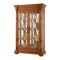 Lexington - Lexington Island Estate Mariana Display Cabinet 531-864 - The decorative bamboo fretwork on the two glass doors causes one to pause and appreciate the strength and flexibility of nature. Yet the display options are enticing as well with six adjustable glass shelves, mirrored back, and lighted interior.