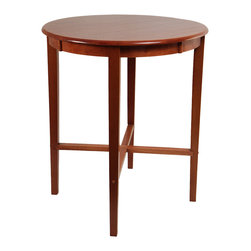 "Boraam - Boraam 42"" Round Pub Table in ES Cherry in 36"" DIA - 42"" Round Pub Table in ES Cherry in 36"" DIA by Boraam This bar height round pub table is ideal for any home! Its resonant cherry color finish compliments any interior design style. Whether people stand or sit, this table is perfect for gathering and socializing with friends and family. Moreover, the optimum size allows you to use the table to serve, to dine, to store & more! Constructed with solid hardwood, this simplistic table is a worthy investment for all who consider. Make a complete 3 piece or 5 piece set by pairing it with one of Boraam's barstools in a matching color finish!"