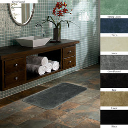 None - Plush  Non-skid 20 x 34 Bath Rug (Set of 2) - Perfect for any bathroom theme, this non-skid bath rug adds a colorful accent piece to your bathroom decor. Featuring a nylon construction for a soft texture, this comfortable rug is machine washable to ensure an easy cleaning process.