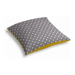Gray & White Ikat Dot Custom Outdoor Floor Pillow - Pick up a Simple Outdoor Floor Pillow for your next shindig under the sun. Perfect for an outdoor picnic or Moroccan style cabana party. We love it in this gray and white ikat polka dot for the preppy modern outdoor space.