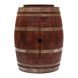 "Barrel Vanity w/ 17"" Vessel Sink - Cabernet"