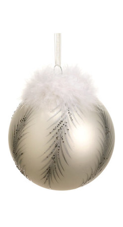 Silk Plants Direct - Silk Plants Direct Glass Feather Pattern Ball Ornament (Pack of 12) - Pack of 12. Silk Plants Direct specializes in manufacturing, design and supply of the most life-like, premium quality artificial plants, trees, flowers, arrangements, topiaries and containers for home, office and commercial use. Our Glass Feather Pattern Ball Ornament includes the following: