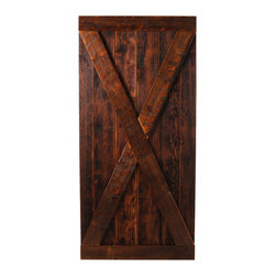 Big Sky Barn Doors - Madison Door, Finished, 38x81 - The Madison door is our full crossbuck door handcrafted from reclaimed Montana Barnwood. Each Big Sky Barn Door is shipped completely assembled and ready to hang.     Due to the nature of antiqued reclaimed lumber, each door is unique in character and appearance.  Colors might vary slightly as well as wood grains, knots, nail holes, etc... Every door is handcrafted and inspected for quality assurance.    Hardware is not included.