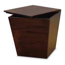Winsome - Mesa Storage Cube / End Table - Functional and attractive, this tapered cube fits in discretely with any style of furniture. Ready to Assemble.