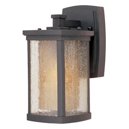 Maxim Lighting - Maxim Lighting 85652CdwSBZ Bungalow Ee1-Light Wall Lantern - Maxim Lighting 85652CDWSBZ Bungalow EE1-Light Wall Lantern