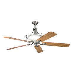 "Kichler - Kichler 300011AP Olympia 60"" Indoor Ceiling Fan 5 Blades - Remote, Uplig - Kichler 300011 Olympia Ceiling Fan"