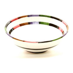 Artistica - Hand Made in Italy - Circo: Coupe Pasta/Soup Bowl - The Circo-Bello collection is an exclusive product from Deruta of Italy designed by Bill Goldsmith.