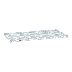InterMetro Industries - Additional Metro Shelves - 36x18 White - Need an extra shelf for your unit?  Either add-on with the original purchase or order later.  It's also easy to pair these shelves with a set a posts to build a specific unit to meet your needs.