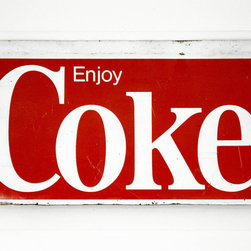 Cool Coke Sign - Nothing adds vibrant color to a room like this large vintage Coke sign. I would love this piece for my kitchen to add interest and color to my neutral walls.
