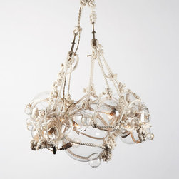 Knotty Bubbles Chandelier - A nautical display of knots and bulbs gives off a clean ocean light inside.