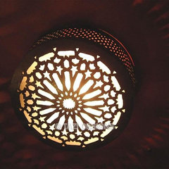 Ceiling Light - Middle Eastern Star : Moroccan Lamps & Lanterns : : Tazi Designs