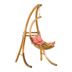 Great Deal Furniture - Crystal Bay Outdoor Teak Stained Wood Swinging Chair w/ Cushion - The Crystal Bay Outdoor Teak Stained Wood Swinging Chair makes the perfect addition to any outdoor space. Complete with the hanging chain, support beam and cushion, this swinging chair will have you swinging in bliss beneath your favorite tree or in your favorite yard space. A perfect seat to read a book or be with a special someone, the Crystal Bay Swinging chair will enhance your outdoor leisure experience.