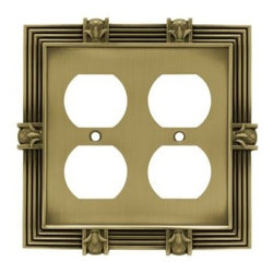 Liberty Hardware - Liberty Hardware 64468 Pineapple WP Collection 4.96 Inch Switch Plate - A simple change can make a huge impact on the look and feel of any room. Change out your old wall plates and give any room a brand new feel. Experience the look of a quality Liberty Hardware wall plate. Width - 4.96 Inch, Height - 4.9 Inch, Projection - 0.3 Inch, Finish - Tumbled Antique Brass, Weight - 0.44 Lbs.