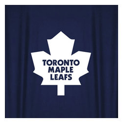 Sports Coverage - NHL Toronto Maple Leafs Hockey Locker Room Shower Curtain - Features: