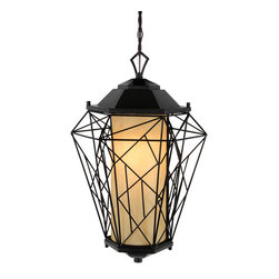Varaluz - Varaluz 737PM01BL The Wright Stuff Black 1 Light Outdoor Pendant - Eco-Friendly Recycled Craftsmanship
