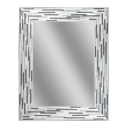 Deco Mirror - Deco Mirror Mirrors 30 in. L x 24 in. W Reeded Charcoal Tiles Wall Mirror 1220 - Shop for Decor at The Home Depot. This frameless reeded mosaic tile composition is elegant and a modern-day addition to your contemporary room or setting. Each tile is screen printed with dark charcoal warm grays and off whites. A surface water clear viscous ink enhances an impressive texture relief which just begs to be touched. Simulated elongated tile designs compliment many of the newer tiles sizes in today's home.