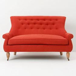 Astrid Settee, Acajou - Here's a pop of awesome to start the new year. I love this sofa.