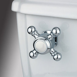 Kingston Brass - Toilet Tank Lever - The Buckingham Cross Tank Lever features a unique four-handled knob built for an easy turn-to-flush functioning.; Made from polished chrome; Solid cast brass construction; Coordinates perfectly with Buckingham collection; Buckingham design; Fit most water closet mechanisms; Material: Brass; Finish: Chrome; Collection: Buckingham