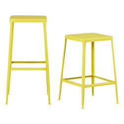 Flint Yellow Bar Stool - I love a white kitchen — but I love the idea of adding a fun pop of color in a white kitchen even better. Stools like these would give it such personality.