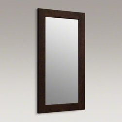 KOHLER - KOHLER Poplin(TM)/Marabou(TM) framed mirror - This wood-framed mirror echoes the traditional American furniture style of Poplin and Marabou vanities in the KOHLER(R) Tailored vanity collection. Choose from an array of wood finishes to match your vanity.