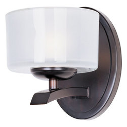 Maxim Lighting - Maxim Lighting Elle Modern / Contemporary Wall Sconce X-IOTF15091 - Ultra transitional design is what makes the Maxim Lighting Elle Wall Sconce a wonderful addition to both modern and traditional homes. The look of the Elle is very versatile and sports an Oil Rubbed Bronze Finish with a unique drum-shaped Frosted Glass that really sets off the look of the light. Ideal for business offices or hospitality settings as well!