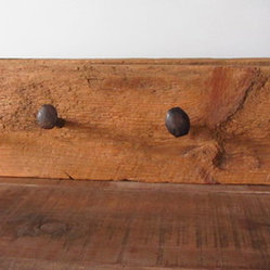 Reclaimed wood and steel coat hook