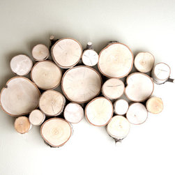 White Birch Wall Art by Urban+Forest - Add a reference to the forests outside your window with this interesting white birch wall art, made from reclaimed white birch woods from Maine. I love how it's both organic and modern.