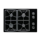 "Dacor Classic 30"" Gas Cooktop, Black Liquid Propane 