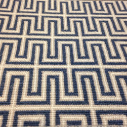 "Showroom Products - This ""greek key"" pattern is a new wool pattern carpet. Offered in a variety of colors. This piece can be fabricated into area rugs with or without a coordinating border. Also for wall to wall installation. Purchase at Hemphill's Rugs & Carpets Orange County, CA www.RugsAndCarpets.com"
