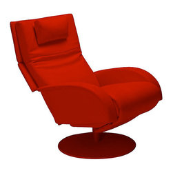 Lafer - Lafer Nicole Recliner Chair, Strawberry - One look at the Nicole Reclining Chair is enough for you to fall in love with this elegant and classy Lafer lounge chair, an ideal addition to your home. Match the color of your Nicole Ergonomic chair with your room's décor and enjoy the inventiveness of its architecture. The Nicole can be adjusted to different positions depending on how you want to relax.