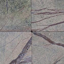 Rainforest Green Tumbled -Mfd Tile - Rainforest Green Tumbled -Mfd