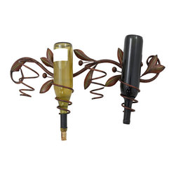 ecWorld - Metal Decor Olive Branch Wall Wine Bottle Holder - This gorgeous Wall Wine Bottle Holder is will compliment your favorite wine bottles! Each piece is hand-finished to look unique and will display beautifully in your home. They make a great house warming gift for that special friend or neighbor - or simply a wonderful classic, yet stylish, addition for your own home!