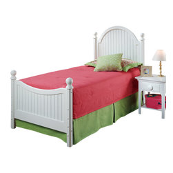 Hillsdale Furniture - Hillsdale Westfield Panel Bed - Twin - Inspired by classic cottage styling, Hillsdale Furniture's Westfield youth bed features a traditional curved headboard, bead board details and lovely sculpted feet. Finished in a perfectly charming white this bed is a refreshing and cheerful addition to your child's bedroom.