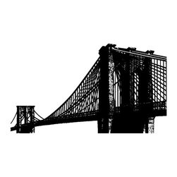 Brooklyn Bridge Wall Decal - Some wall decals may come in multiple pieces due to the size of the design.