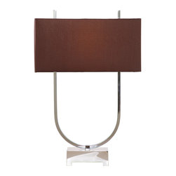 Bassett Mirror - Bassett Mirror Quasar Table Lamp L2503TEC - Bassett Mirror Quasar Table Lamp L2503TEC