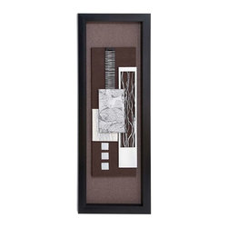"""BZBZ97502 - Wood Framed Art with Silver Matte Finish - Wood Framed Art with Silver Matte Finish. Adding grandeur to your decor, this wooden art work is crafted with precision to match your classy set up. It comes with the following dimensions 19"""" W x 2"""" D x 55"""" H."""