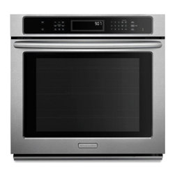 "KitchenAid - Architect Series II KEBK101BSS 30"" Single Thermal Electric Waal Oven with 5.0 cu - Provides assurance that a KitchenAid built-in oven will fit your existing cutout without needing to modify your cabinets Adjustableremovable feet can be positioned helping our ovens to fit inside standard short medium or tall cutouts"