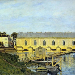 "Alfred Sisley The Machine at Marly - 16"" x 20"" Premium Archival Print - 16"" x 20"" Alfred Sisley The Machine at Marly premium archival print reproduced to meet museum quality standards. Our museum quality archival prints are produced using high-precision print technology for a more accurate reproduction printed on high quality, heavyweight matte presentation paper with fade-resistant, archival inks. Our progressive business model allows us to offer works of art to you at the best wholesale pricing, significantly less than art gallery prices, affordable to all. This line of artwork is produced with extra white border space (if you choose to have it framed, for your framer to work with to frame properly or utilize a larger mat and/or frame).  We present a comprehensive collection of exceptional art reproductions byAlfred Sisley."